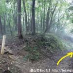 広徳寺から今熊神社に行く途中の小峰公園との分岐