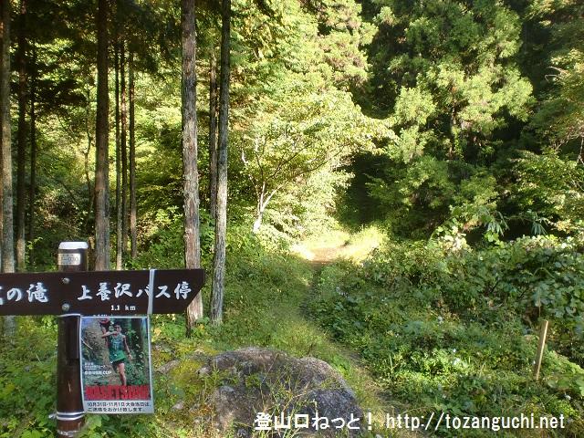 日の出山(杉の木陰のみち)の登山口 上養沢にアクセスする方法