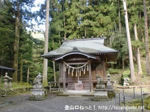養澤神社の本殿(あきる野市)