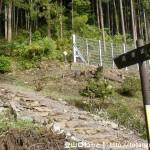 養澤神社の本殿の裏から続く高岩山への登山道(あきる野市)