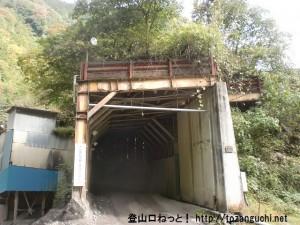 大岳鍾乳洞方面に向かう林道の採石場にあるトンネル