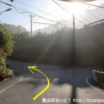 大下バス停の少し下のJRの線路手前から左折して小下沢林道に入る