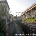相模湖駅から与瀬神社に向かう途中の線路沿いの小路
