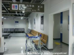 成田空港第2ターミナルの北ウェイティングエリアのトイレ