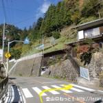 仲の平バス停のすぐ上にある浅間尾根の登山口前の横断歩道