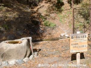 鶴の湯温泉の源泉碑(奥多摩)