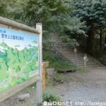 愛宕山公園周辺案内板と愛宕神社の参道入口