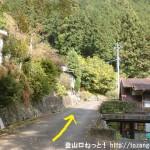 林道不老線の入口の手前500mあたりの車道