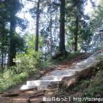 羽黒三田神社の本殿前の階段