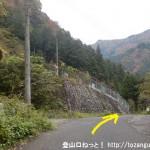 境橋バス停から体験の森に行く途中の紛らわしいT字路