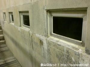 白丸ダムの魚道ののぞき窓