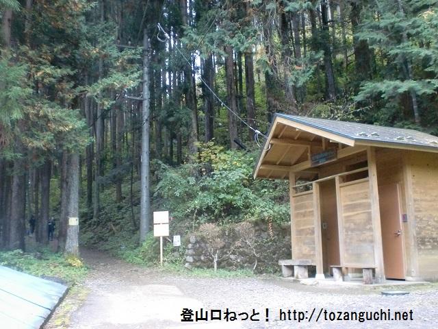 御岳山・大楢峠の鳩ノ巣駅側の登山口にアクセスする方法