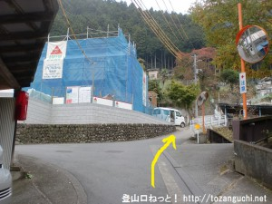 鳩ノ巣駅から本仁田山登山口に行く途中の2つめの辻