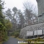 塩船観音寺の観音像の下
