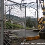 JR御嶽駅東側の踏切