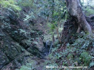 八王子城址の御主殿の滝