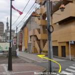 青梅駅前の路地
