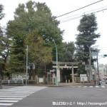 鳩森八幡神社前の交差点