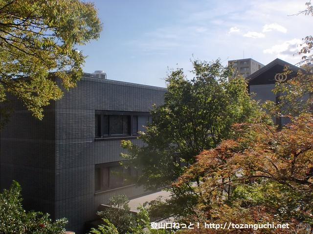 護国寺の富士塚(音羽富士)山頂からの眺望