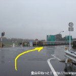 JR東秋留駅から滝山城跡に行く途中で都道166号線に出合う所