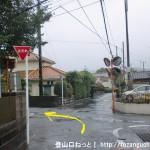 JR東秋留駅から滝山城跡に行く途中の延命地蔵尊の手前の辻を左折