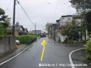 JR東秋留駅から滝山城跡に行く途中の住宅街の路地2