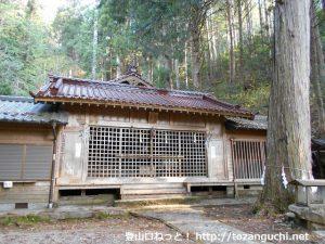 白鳥神社本殿(愛知県設楽町)