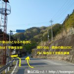 県道202号線の黒瀧山(不動寺)への分岐