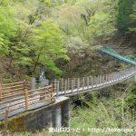 尾ノ尾内渓谷入口にかけられている吊り橋