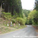 二子山の坂本登山口(股峠を経由するコース)