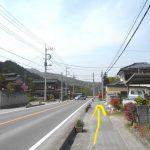 西福寺前の県道44号線(県道13号線)