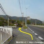 樋口駅前から榎峠への入口に入る