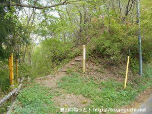 陣見山と旧榎峠の中間にある陣見山ハイキングコースの入口