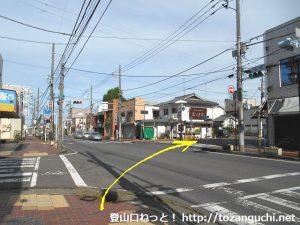 県道2号線と県道321号線の本町の交差点