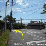 新桐生駅前の交差点を左折