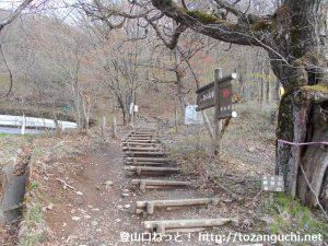 荒山高原登山口の階段
