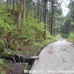 十二ヶ岳登山口の手前の林道沿いの水場
