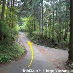 子持神社の手前の三叉路