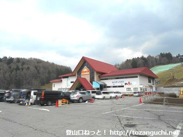 丸沼高原スキー場のセンターハウス(日光白根山ロープウェイのりば)