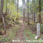 仏岩ポケットパークの仏岩登山口(吾妻屋山登山口)