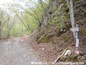 角落山の女坂コースの登山口