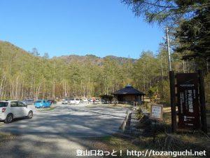 甲武信ヶ岳の毛木平登山口駐車場(毛木場駐車場)