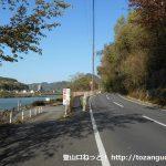 犬山遊園駅から寂光院に行く途中の木曽川沿いの車道