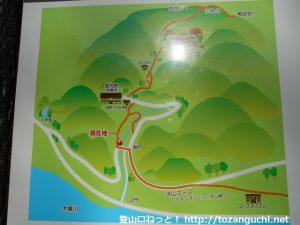 継鹿尾山の寂光院コースの登山マップ