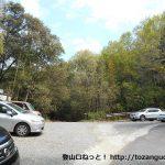 細野キャンプ場の駐車場