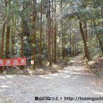 東谷山の表参道コース登山口
