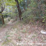 天下峯の西側の登山道入口