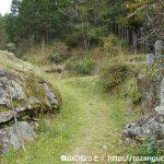 安全寺の前から天下峯への登山道を見る
