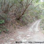 黍生の足助地区側の登山口前の林道