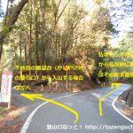 県道32号線の四谷千枚田展望台への分岐地点